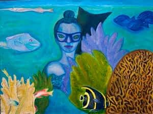 Joan Becoming Fish by Joan Pancoe