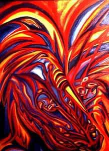 Soaring Equestrial Firebearer by Joan Pancoe